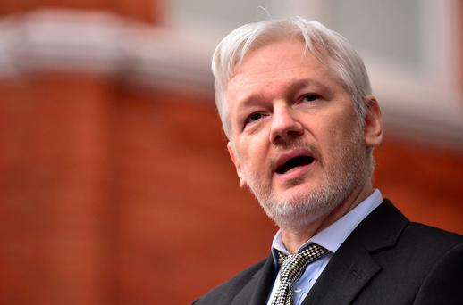File photo dated 05/02/16 of WikiLeaks founder Julian Assange as Sweden's chief prosecutor has made it clear there is no immediate prospect of interviewing the WikiLeaks founder in London.
