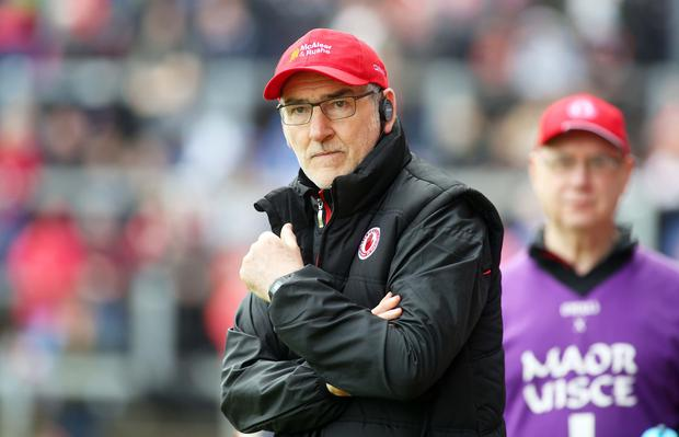 Denied: Mickey Harte's request for a one-year extension to his current deal as Tyrone boss was not voted on by the county board