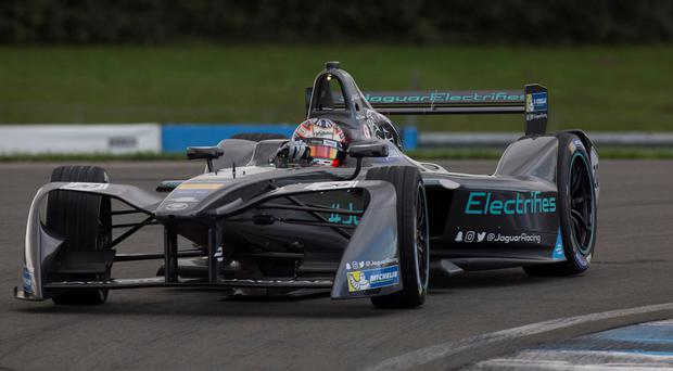New challenge: Adam Carroll has joined the 'E' racing revolution with Jaguar