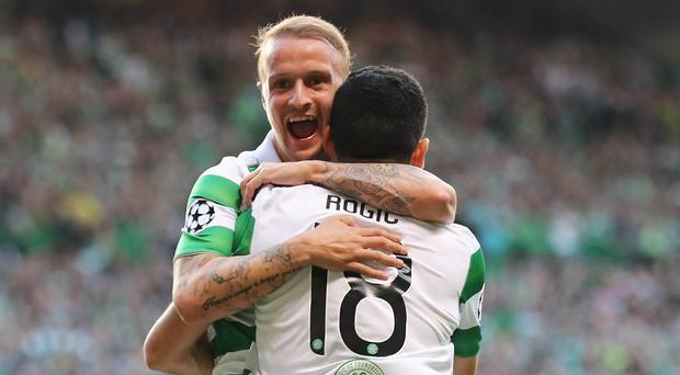 Threat: Leigh Griffiths has been in fine form for Celtic this season
