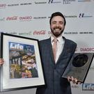 Best Bar None: Last year's winner Nathaniel McAuley of Muriel's in Belfast. Pic: Press Eye.