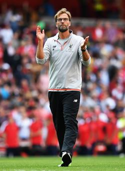 Applause: Jurgen Klopp has hailed the work to add 8,000 extra seats