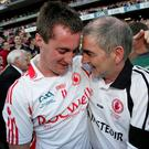 Old pals: Brian McGuigan and Mickey Harte