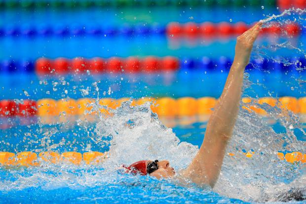 Great Britain's Bethany Firth on the way to winning Gold in the Women's 100m Backstroke S14 Final at the Olympic Aquatics Stadium during the first day of the 2016 Rio Paralympic Games in Rio de Janeiro, Brazil. PA