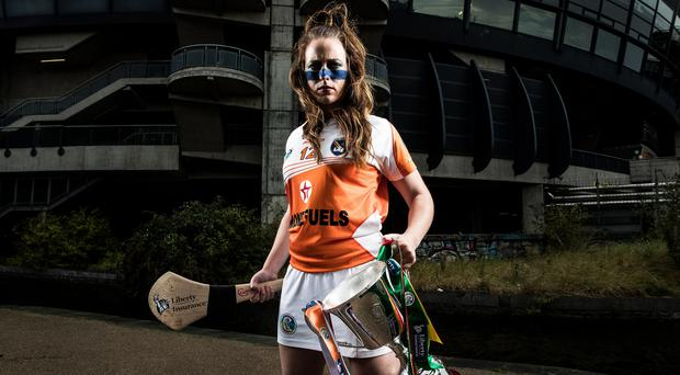 Up for it: Ciara Donnelly cannot wait to lead Armagh's camogie team into the All-Ireland junior final at Croke Park