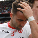 Gutted: Tiernan McCann after Tyrone's All-Ireland exit to Mayo