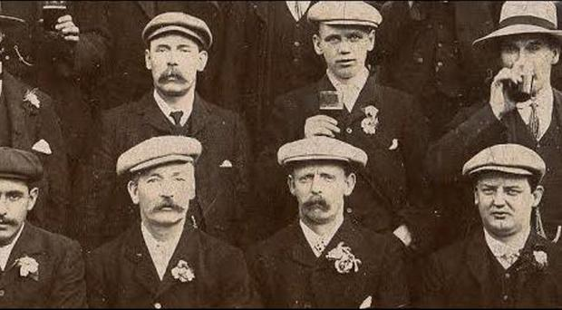 Big day: are these dapper Distillery FC fans at the 1903 Irish Cup final?