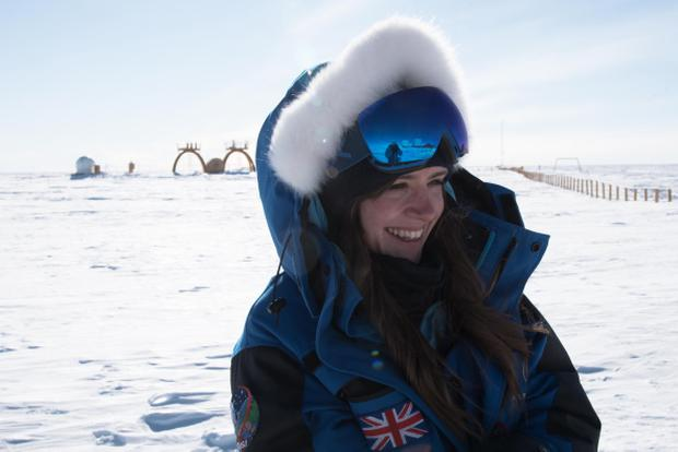 Cold comfort: Beth Healey spent a year in brutal conditions in Antarctica