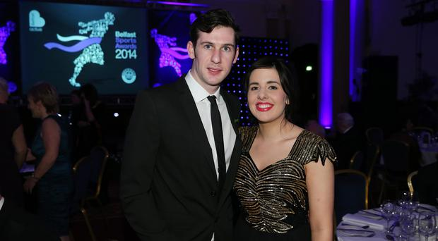 Michael McKillop and his fiancee Nicole Martin
