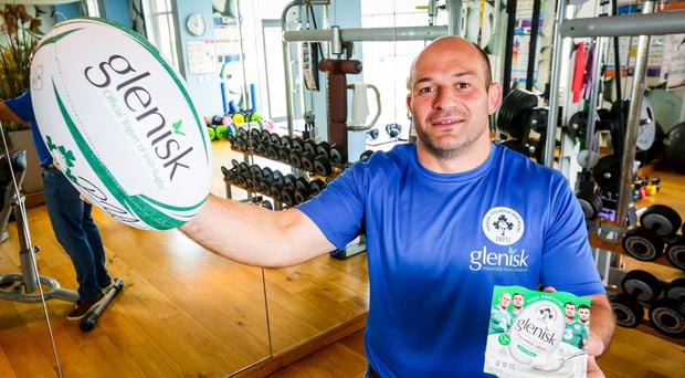 Rory raring to go: Rory Best, in the Kingspan Stadium gym yesterday, intends to keep playing for as long as possible after the careers of his brother Simon and Stephen Ferris were cut short