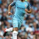 Unavailable: Sergio Aguero is banned for the derby duel