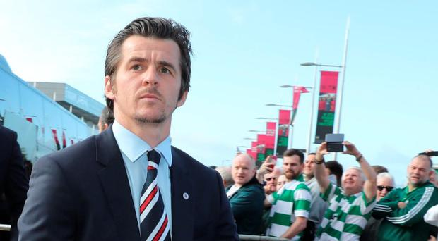 Joey Barton of Rangers arrives at Celtic Park before the Ladbrokes Scottish Premiership match between Celtic and Rangers on September 10, 2016 in Glasgow. (Photo by Steve Welsh/Getty Images)