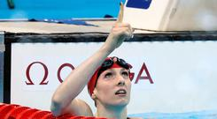 Record-breaker: Bethany Firth wins the S14 200m freestyle final in a new Games record time