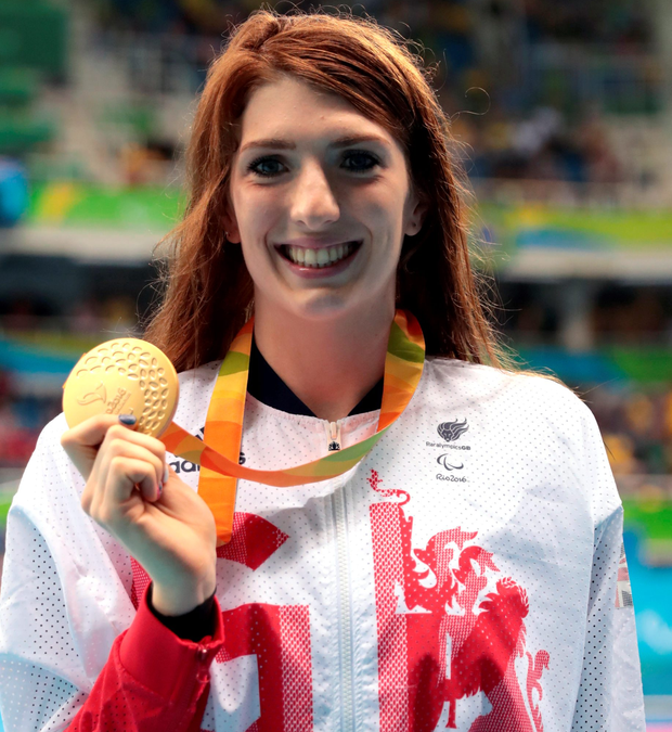 Bethany Firth with her second gold of the Games after victory in the Women's 200m Freestyle