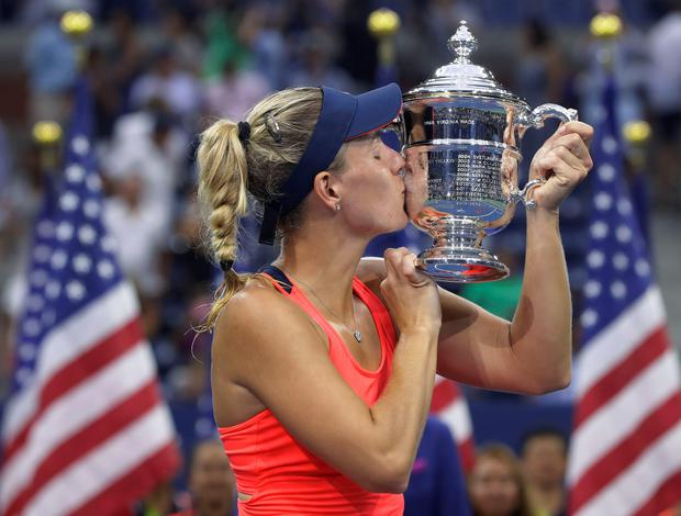 First lady: Angelique Kerber celebrates US Open win and world No 1 status