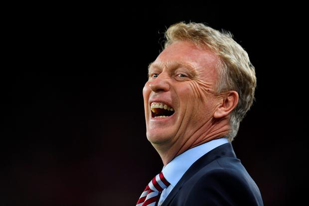 David Moyes manager of Sunderland laughs prior to the Premier League match between Sunderland and Everton at Stadium of Light on September 12, 2016 in Sunderland, England. (Photo by Laurence Griffiths/Getty Images)