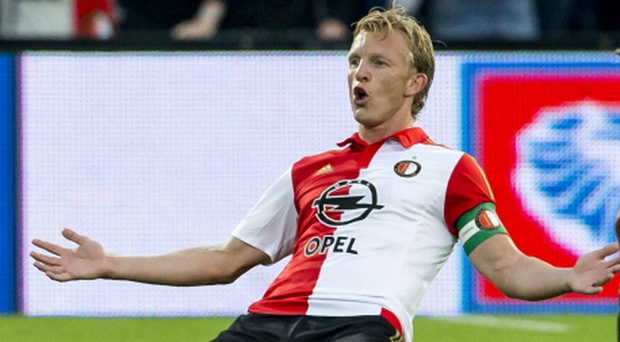 Previous: ex-Pool ace Dirk Kuyt has hit a treble against United