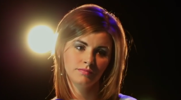 Donna Taggart in her music video which went viral.