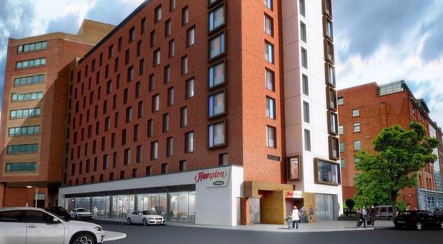 An artist's impression of how the new hotel will look