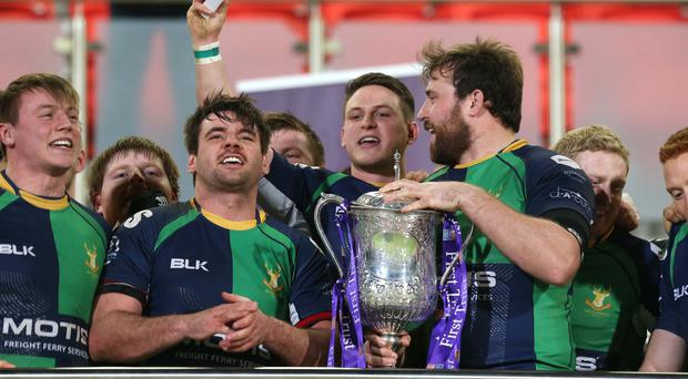 Aiming high: Ballynahinch will want to replicate last season's Ulster Senior Cup success in this year's AIL after relegation