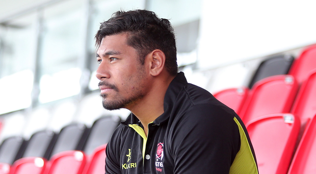 Ready for action: Charles Piutau at the Kingspan this week ahead of tonight's big match against the Scarlets
