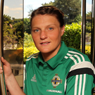 On fire: Ashley Hutton says Northern Ireland can get a good result tonight
