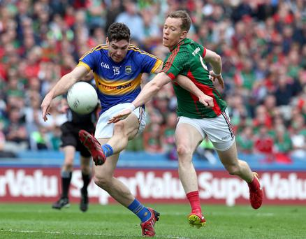 Confident: Donal Vaughan (right) is sure Mayo can triumph