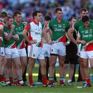 Park strife: Mayo's players show their dejection after losing to Dublin at Croke Park in the 2013 final