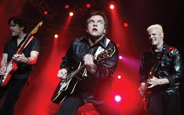 Meat Loaf with his band.