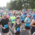 Press Eye - Belfast - Northern Ireland - 18th September 2016 - 4th Deep RiverRock Belfast City Half Marathon in Ormeau Park. (Photo by Kevin Scott / Press Eye)