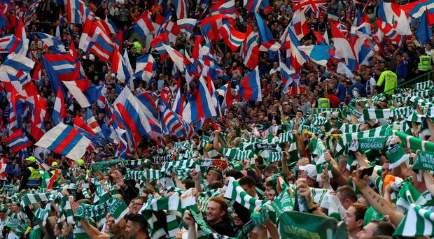 Fans at last weekend's Old Firm game between Celtic and Rangers at Parkhead