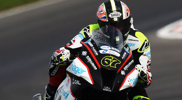Out in front: Shane Byrne extended his championship lead
