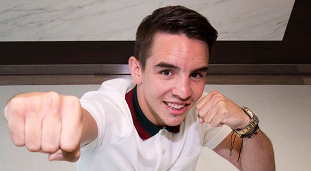 Punching forward: Michael Conlan celebrates his Top Rank pro deal
