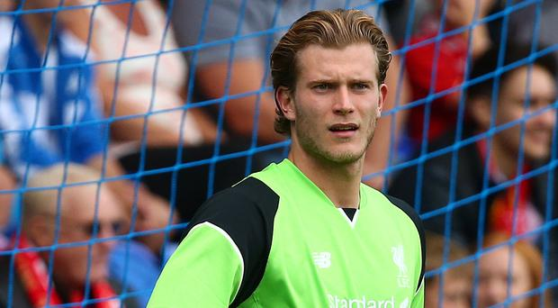 Big chance: Loris Karius will get his first Liverpool start against Derby