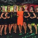 Julia Galbraith, Magners Brand Manager is pictured at the #MagnersForbidden party at Ollie's, Belfast, with her fleet of Seven Deadly Sins promo staff.