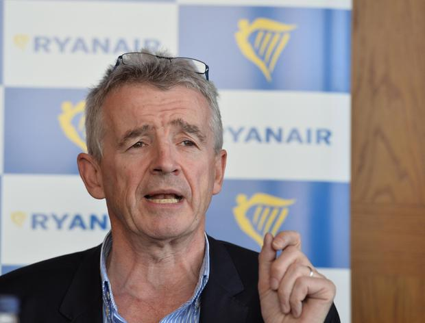 Ryanair chief executive Michael O'Leary speaks to the media at a Press conference at Titanic Belfast. Pic Colm Lenaghan/Pacemaker