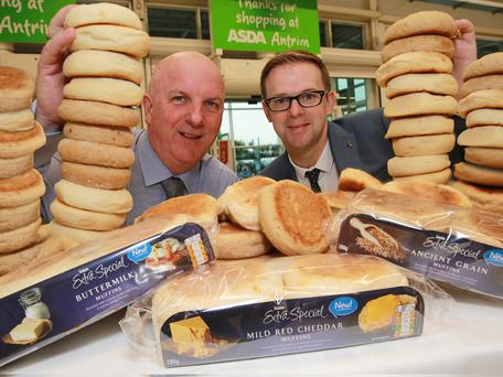 Brian Conway, Asda Regional Buying Manager, and Chris Moore, national account manager, Irwin's Bakery
