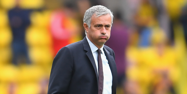 Confrontational: Man United boss Jose Mourinho