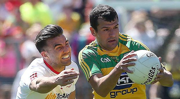 Rapid response: Tyrone ace Tiarnan McCann has gone from villain to hero in recent months