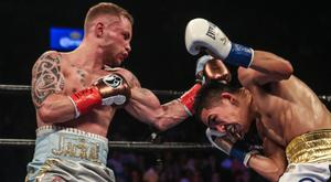 Ring master: Carl Frampton on his way to beating Leo Santa Cruz