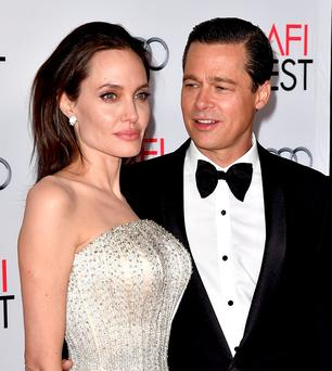 Angelina Jolie and Brad Pitt together last year