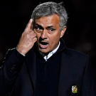 Special plan: Jose Mourinho gives the orders last night