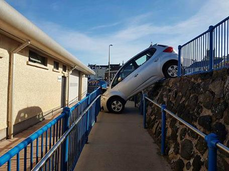 The car over the Portstewart promenade. Pic: Sheila's Portstewart