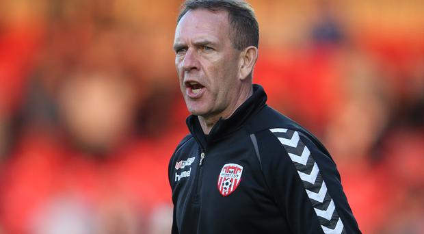 Promised land: Kenny Shiels's side are closing in on a European place