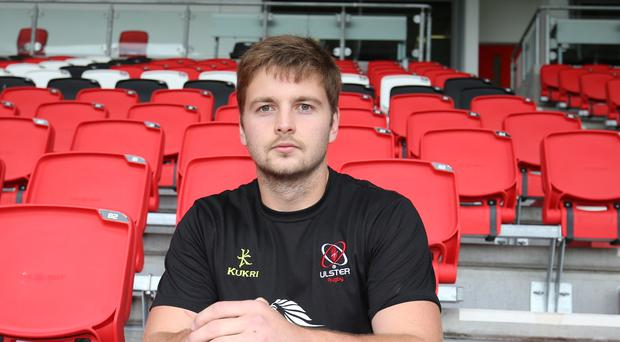 In the hotseat: Ulster's Iain Henderson at Kingspan Stadium ahead of tonight's big showdown against Glasgow at Scotstoun