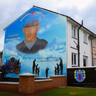 The new mural to Stephen McKeag in the Shankill area