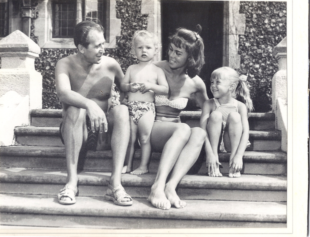 Howard with his father, mother and sister Debbie.