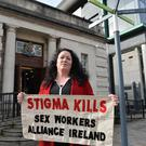 Sex Worker rights Campaigner, Laura Lee at Belfast High Court on Friday Morning, Laura appeared at court for a judicial review hearing. Photo Colm Lenaghan/ Pacemaker