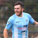 Goal king: Striker Cathair Friel is on fire for Ballymena United