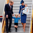 VICTORIA, BC - SEPTEMBER 24: Catherine, Duchess of Cambridge, Prince George of Cambridge and Princess Charlotte of Cambridge arrive at 443 Maritime Helicopter Squadron near Victoria international airport on September 24, 2016 in Victoria, Canada. Prince William, Duke of Cambridge, Catherine, Duchess of Cambridge, Prince George and Princess Charlotte are visiting Canada as part of an eight day visit to the country taking in areas such as Bella Bella, Whitehorse and Kelowna. (Photo by Andrew Chin/Getty Images)